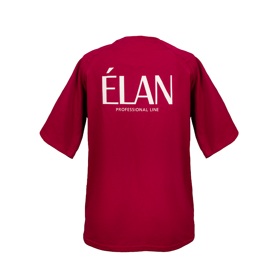 Брендована футболка ELAN бордова