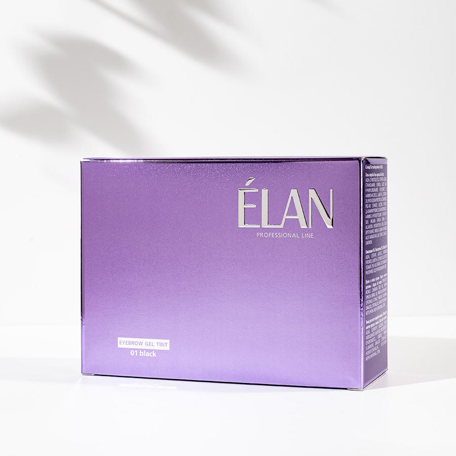 Фарба для брів ELAN комплект 01 чорний