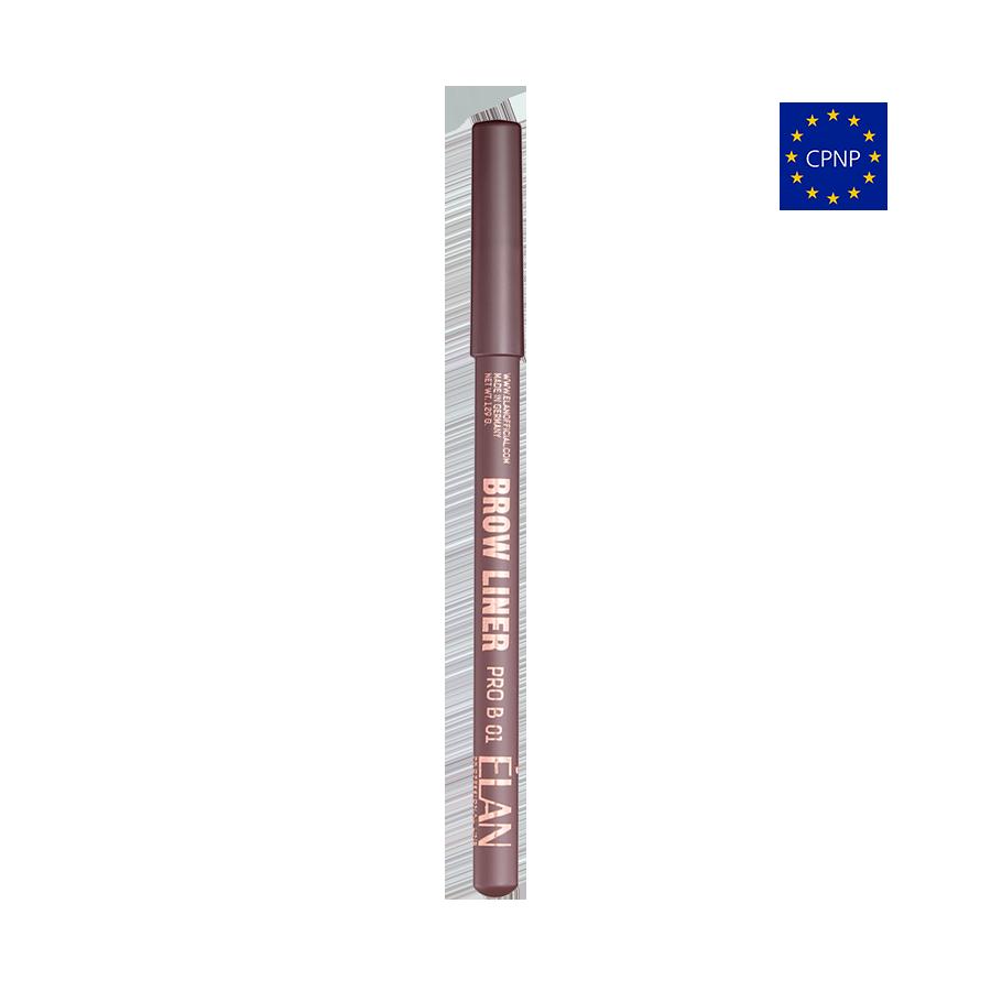 Пудровий олівець для брів  Brow Liner PRO B 01 medium brown