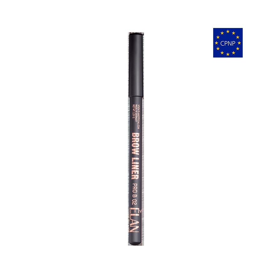 Пудровий олівець для брів  Brow Liner PRO B 02 dark brown